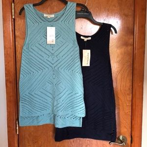 NWT Crochet Tunics Set of two! Teal and Navy Blue